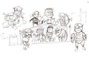 Baby Avengers by showe