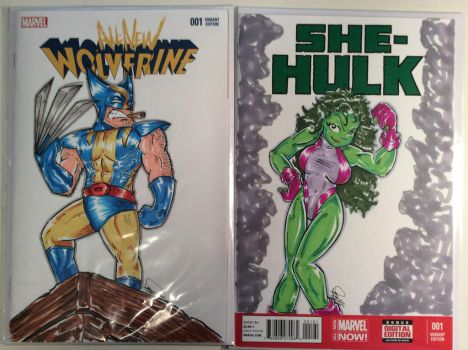 Two sketch covers by studiocomix