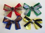 Hogwarts House Bows by Purplefire40