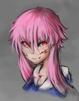 Yuno Gasai fan art by Hamzilla15