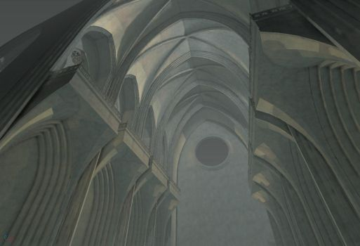 Cathedral 2 - Work in Progress by DigitalNightfall