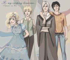 Luna-Pansy-Draco-Harry by MeryChess