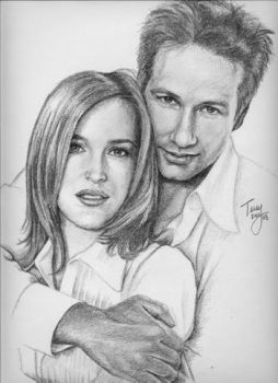 Scully and Mulder from X-Files by TerryXart