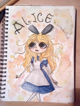 Alice in wonderland Aquarelle drawing by drawinglikeaunicorn