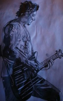 Synyster gates drawing by gbftattoos