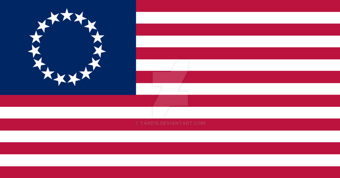 Palimpsest Betsy Ross Flag by tard15
