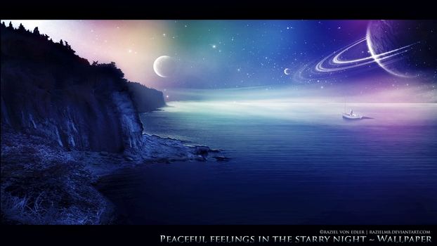 Peaceful feelings in the starry night by GeneRazART