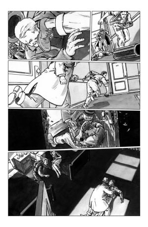 deadball noir comic pg5 chase scene by carbono14