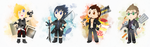 Final Fantasy XV Mini Galore by Azurelly