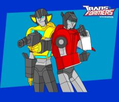 Transformers Animated: Twins by batchix