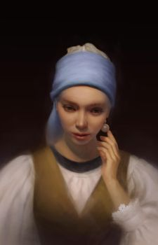Girl With A Pearl Earring by FionaMeng