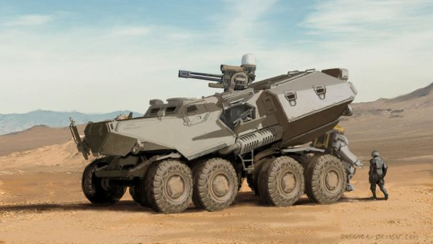 M803 Heavy Infantry Carrier by MikeDoscher