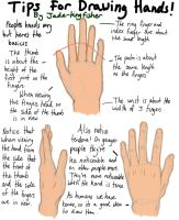 tips on drawing hands by JadeKingfisher