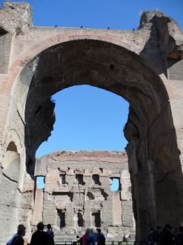 Arches and People at the Baths of Caracalla by J-N-K