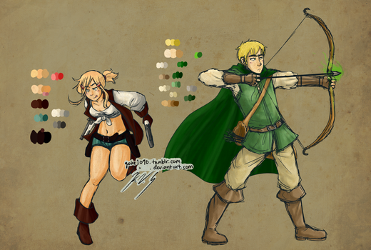 Gunner and Archer by gohe1090