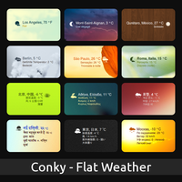 Flat-Weather for Conky by pabloferz