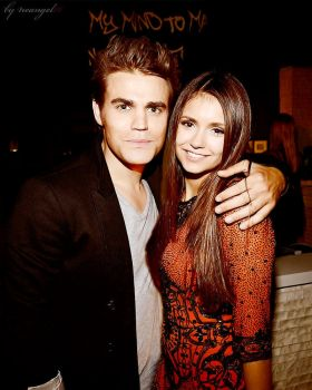 Paul Wesley and Nina Dobrev by neangel16