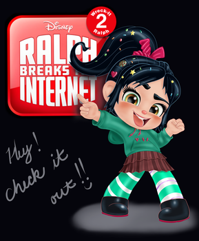 Vanellope - Hey, Check It Out!! by artistsncoffeeshops