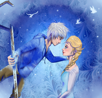 Frost and Elsa by River-Painted-Gold