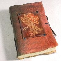 Dragonfly Leather Journal by gildbookbinders