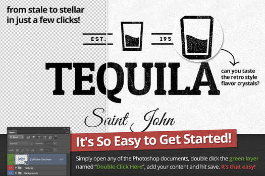 Tequila Retro Logo and Badge by xstortionist