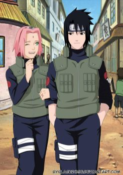 SasuSaku on the way home from a mission. by byBlackRose