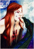 The Kiss of the Dragon - Self portrait by SandraLeeShadows