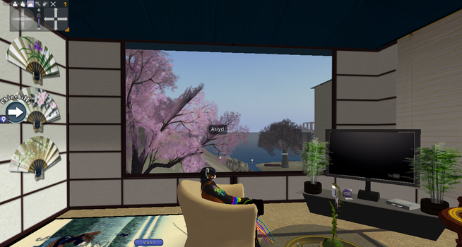 Asiyd's Livingroom View by SilentAsShadows
