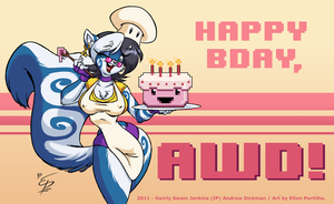 AWD's 8 Bit Birthday by eltonpot