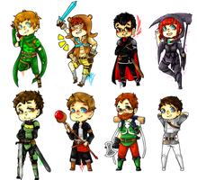 Achievement Hunter Keychains by reishi98
