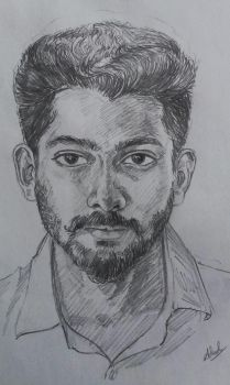 live portrait of my friend by predatorarjun