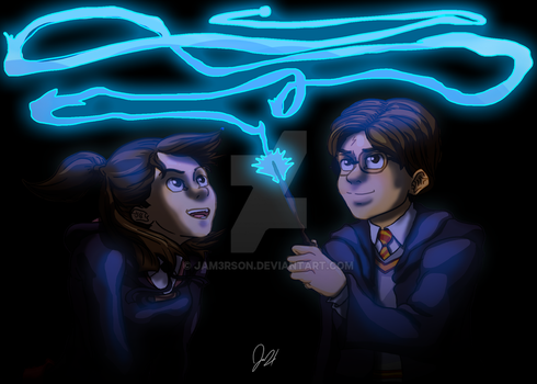 Harry Potter x Little Witch Academia by JAM3RSON