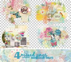 4 Mixed PNGs - 1409 by Missesglass