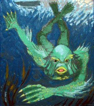 The Creature from the Black Lagoon by Huberific