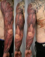 Muscle Armsleeve TaT by 2Face-Tattoo