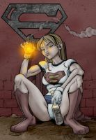 Supergirl rock bottom by titaniumgorilla
