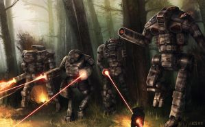 Battletech - Scouting Raid by Shimmering-Sword