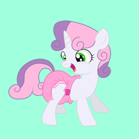 Diapered Sweetie Belle by Hourglass-Sands