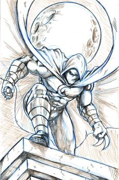 Moon Knight Commission by WiL-Woods