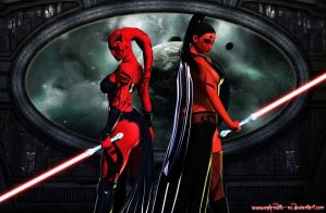 Darth Talon and Darth Maladi by Aphrodite-NS