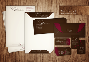 wine bar restaurant stationery by feanne