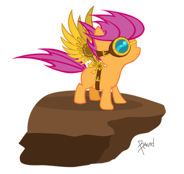 Steam Punk Scootaloo by Bernd01