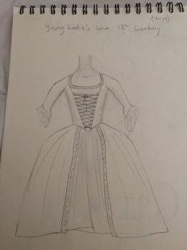 Child's 18th Century Gown by WaywardDamsel