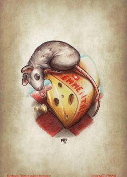 Emmental Thief Mouse - Tattoo by FEDsART