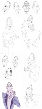 Anton Ego Sketches by LeweArte