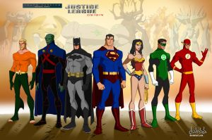 Young Justice Justice League Original Team members by dark-BuB
