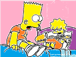 lisa and bart by cittykat21