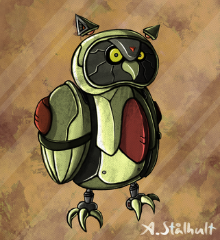 Robot Owl by Alex-the-Irregular