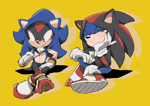 sonic and shadow 6 by aoki6311