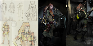 Steampunk Outfit - Sketches by Nymla